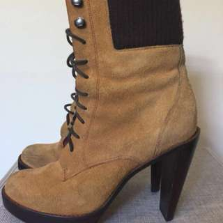 *PRICEDROP* Cole Haan Nike Air Tan Suede Utility Boots Sz 7.5