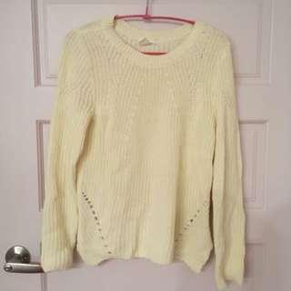 H&M 白色針織毛衣