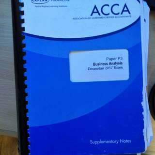 P3 ACCA textbook workbook and notes