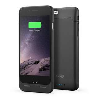 Anker Ultra Slim Extended Battery Case for iPhone 6 / 6s (4.7 inch) with 2850mAh Capacity (Black)