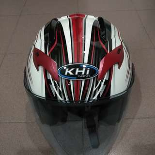HELMET KHI RED WHITE