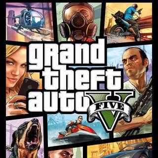 Gta 5 pc (遊戲碟連 online帳號1千萬,100lv)