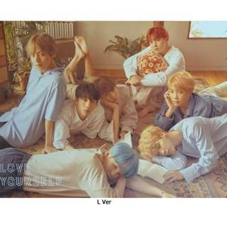 BTS Love Yourself Official Poster ( L ver. )