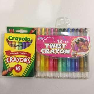 Crayola crayons + crayon