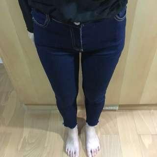 原色毛邊牛仔褲
