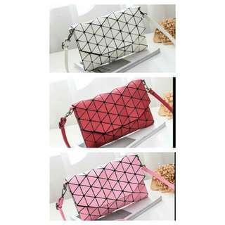 Crossbody Handbag Clutch Geometric Pattern
