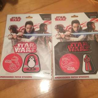 Star Wars Embroidered Patch Stickers x 2 sets