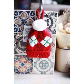 🌟日本限定🌟Christmas🎅🏻🎄迷你聖誕毛線帽吊飾-內附糖果🍬(綠/紅)