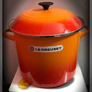新貨Le Creuset 11.4L stockpot 橙色美國版湯煲