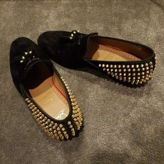 100% Auth With Box Receipt and Dustbag Louboutin Loafers! runway edition