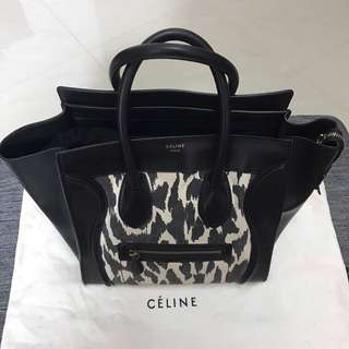 Authentic Celine mini luggage bag