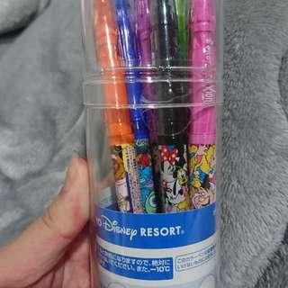正版迪士尼 八色彩色擦擦筆