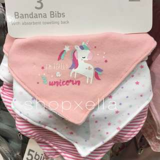 3pcs Baby Bandana Bib for Girls