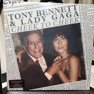Tony Bennett & Lady Gaga cheek to cheek vinyl record LP