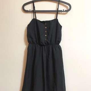 轉賣ASOS 黑色平口垂墜風洋裝