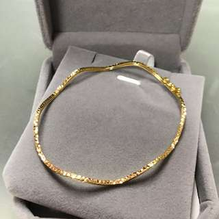 18k yellow gold bangle 黃金手鐲