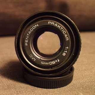 50mm F1.8 Manual Focus PB Mount (Pentacon)