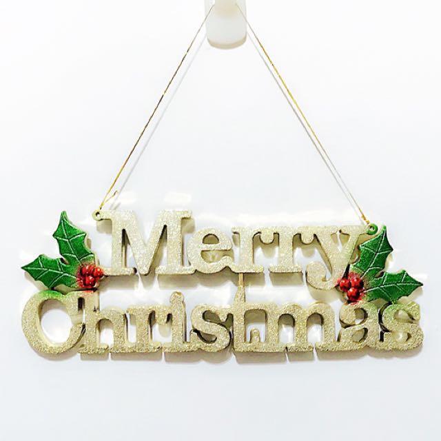小公主♥聖誕樹吊飾28公分英文字牌聖誕樹裝飾聖誕擺飾