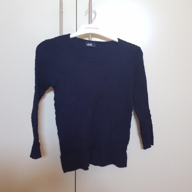 3/4 sleeve jumper