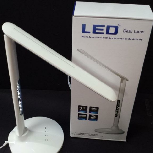 3in1 LED table lamp, touch sensor, dimmable, temperature and time indicator, 3in1 colour