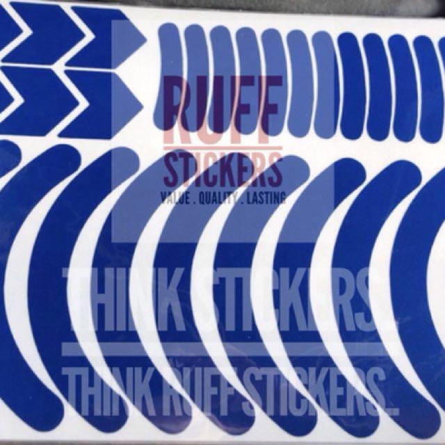 3M Reflective Sticker for 8 Inch Wheel Rims