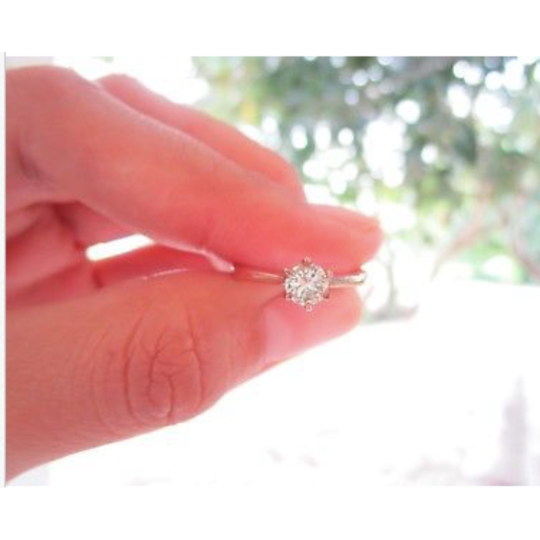 40 Carat Diamond Rose Gold Engagement Ring 14k, Preloved Women\'s ...