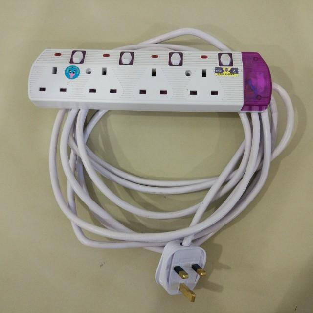 4-gang Extension Sockets