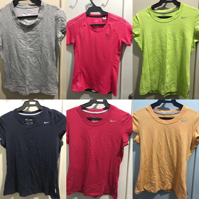 6 pieces Dri fit Nike Adidas Shirts Small