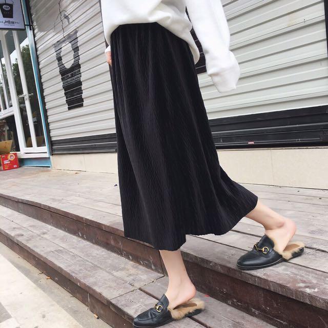 麥穗紋理顯瘦長裙