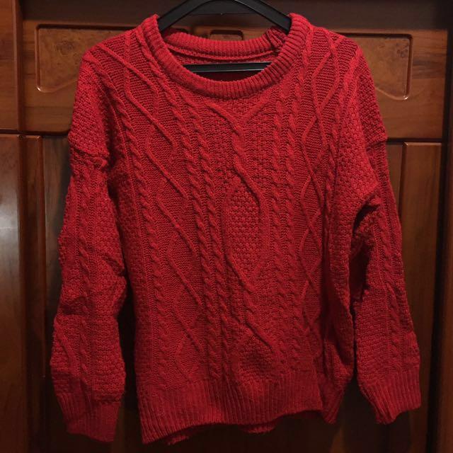 🎃二手🎃紅色毛線衣