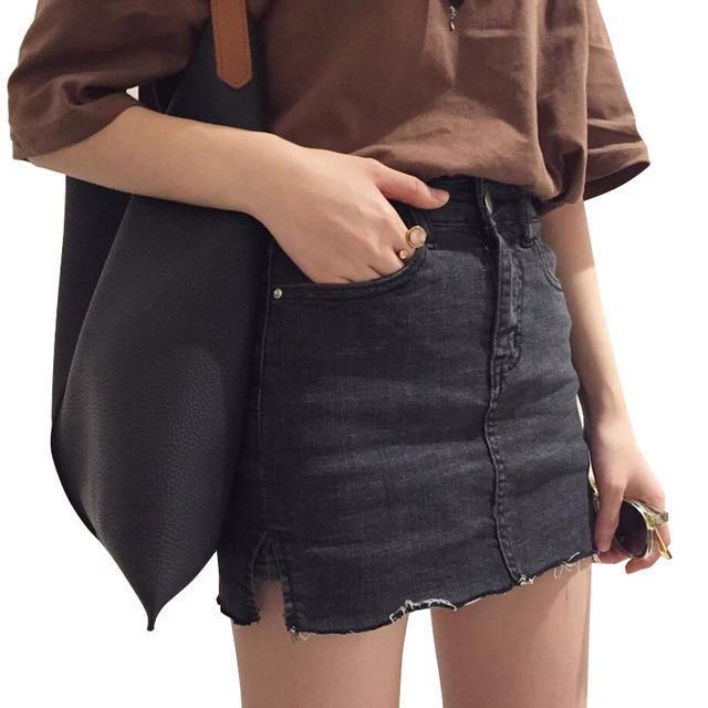 牛仔彈性褲裙