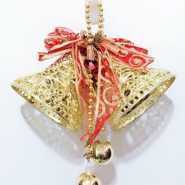 小公主♥聖誕節裝飾品立體金色鈴鐺掛飾聖誕樹掛件