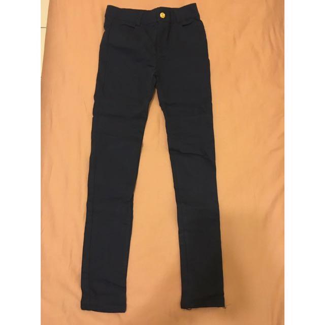 貼腿褲 -深藍