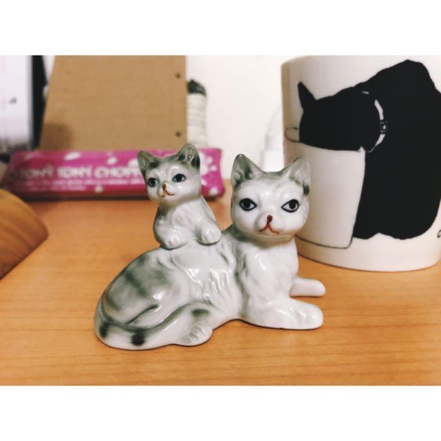 可愛貓咪擺飾 陶瓷 交換禮物