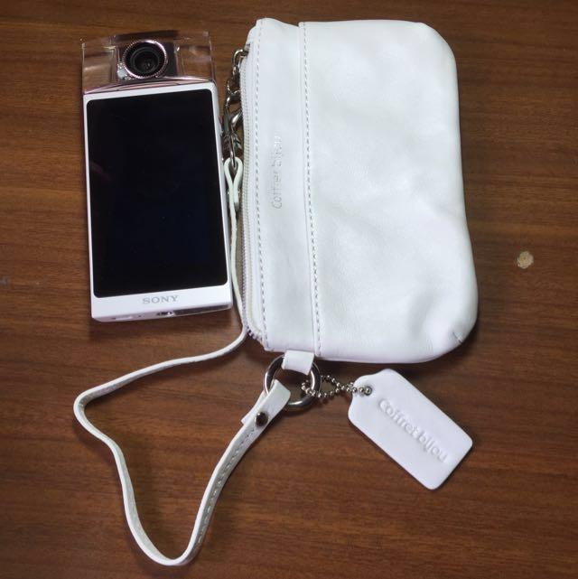 氣質白 零錢包 小包 相機包