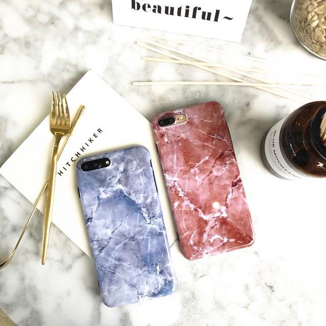 全新 紅色大理石紋 手機殼 iPhone 7