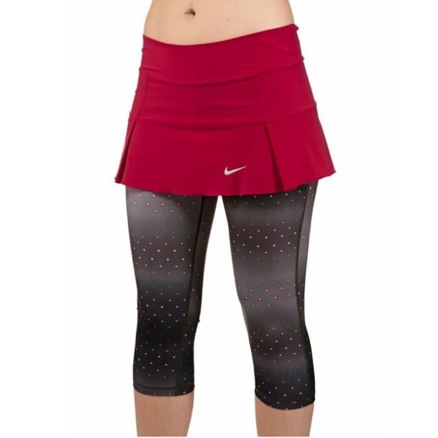 特賣 Nike 專業女子網球運動七分點點褲裙/共兩色 L號