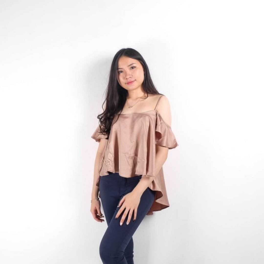 abigail glamour shoulder blouse