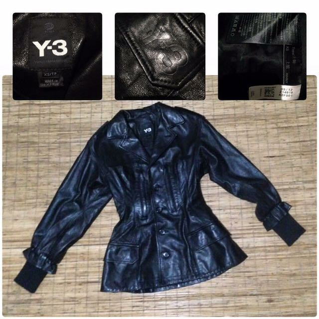 adidas neo Y3 jacket leather