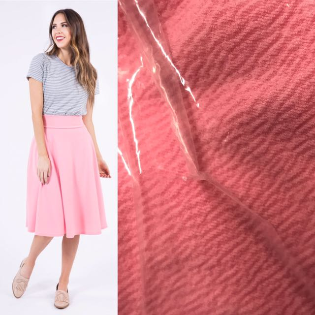 6121bf1588 Agnes and Dora Solid Salmon Pink Liverpool midi, Women's Fashion, Clothes,  Dresses & Skirts on Carousell