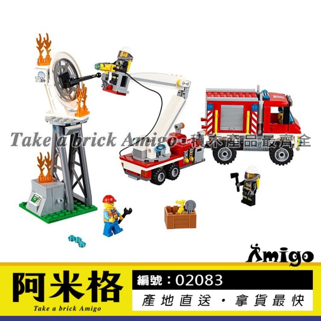 阿米格Amigo│【現貨】樂拼02083 重型消防車 Truck 城市系列 CITY非樂高60111但相容