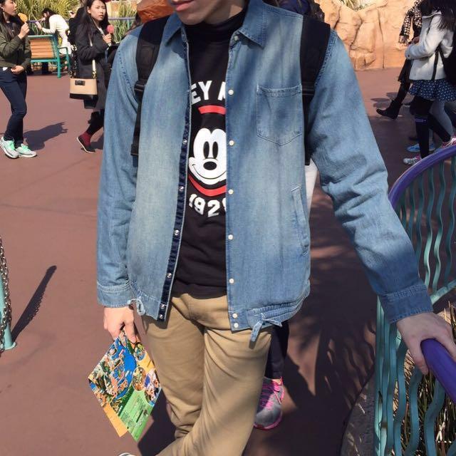 ANTIQULOTHES 丹寧襯衫外套M號 #日系品牌#丹寧