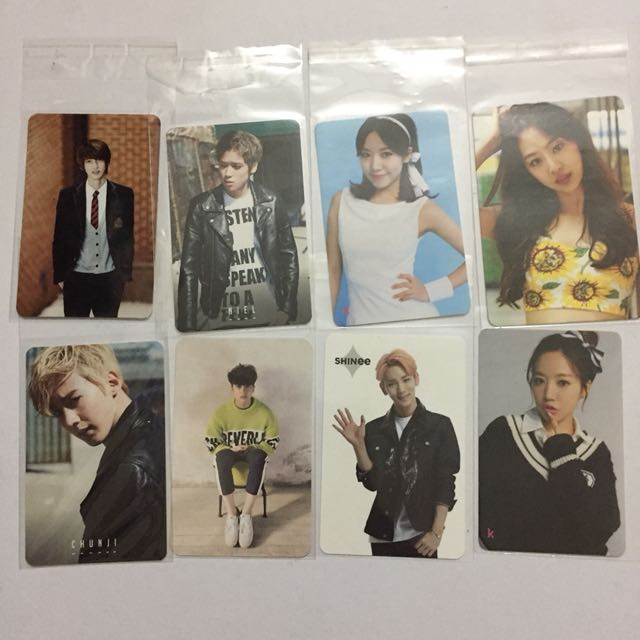 Assorted Official Photocard Vixx Teen Top A-pink Sistar SHInee