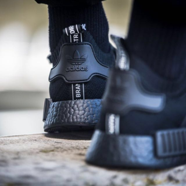 5f6bdb41c6192 Authentic Adidas Originals NMD Japan Boost Triple Black