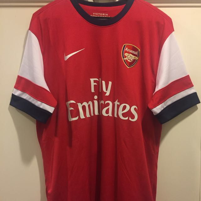 check out 81c8f 6b284 Authentic Arsenal FC The Ox Jersey Home 13/14