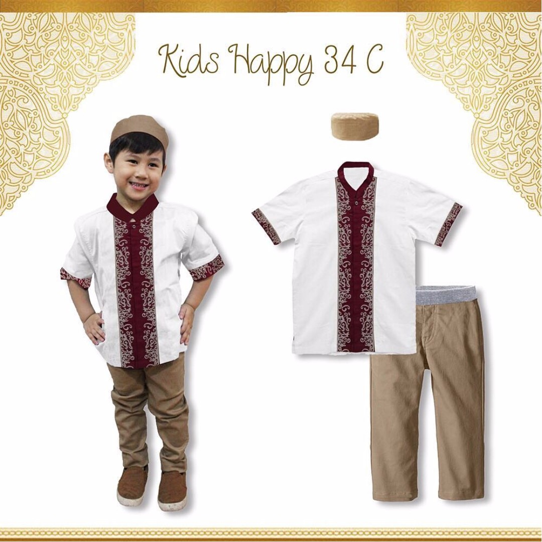 (B01277KH3) 3in1 koko kids happy putih size kecil