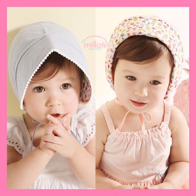 Baby bonnet topi katun ikat