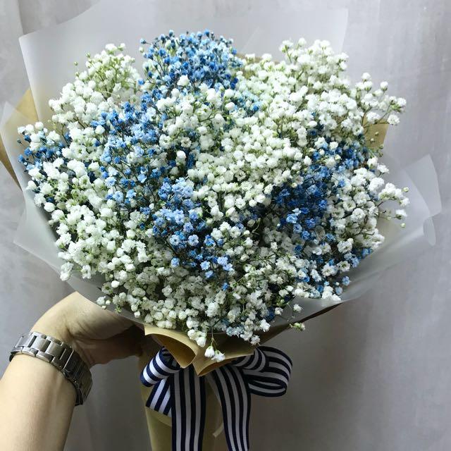 Baby Breath Hand Bouquet