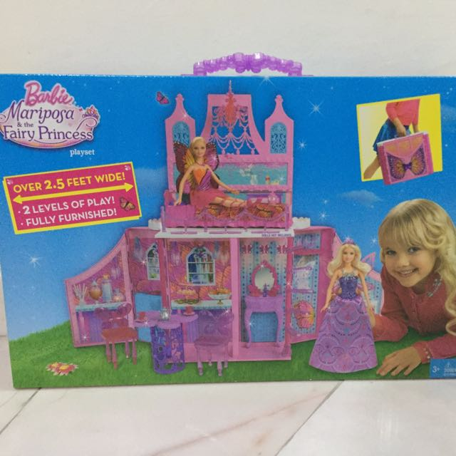 🆕Barbie Mariposa and The Fairy Princess Playset
