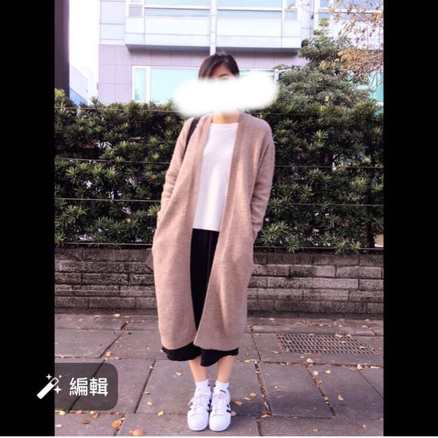 Beams 淺駝色羊毛針織外套